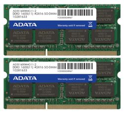 ADATA Premier 8GB DDR3 1600MHz / SO-DIMM / CL11 / KIT 2x 4GB AD3S1600W4G11-2