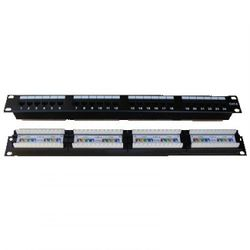 "DATACOM Patch panel 19"" UTP 24 port CAT6 DUAL 1U BK (4x6p) 3091"