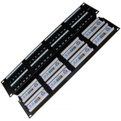 "DATACOM Patch panel 19"" UTP 48 port CAT5E DUAL 2U BK (8x6p) 3003"