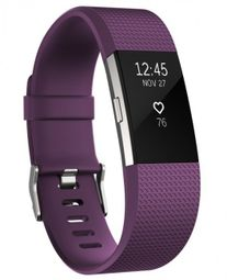 Fitbit Charge 2 Plum Silver (vel. S) Fitness náramek