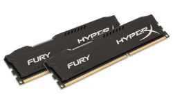 KINGSTON HyperX FURY 16GB DDR3 1600MHz / DIMM / CL10 / černá / KIT 2x 8GB HX316C10FBK2/16