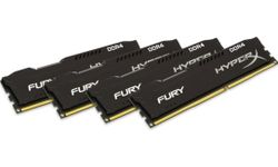 KINGSTON HyperX FURY 64GB DDR4 2933MHz / DIMM / CL17 / černá / KIT 4x 16GB HX429C17FBK4/64