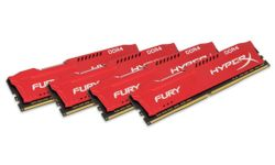KINGSTON HyperX FURY 64GB DDR4 2933MHz / DIMM / CL17 / červená / KIT 4x 16GB HX429C17FRK4/64