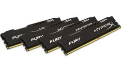 KINGSTON HyperX FURY DDR4 64GB (4x16GB kit) / DIMM / 2666MHz / CL16 / černá HX426C16FBK4/64