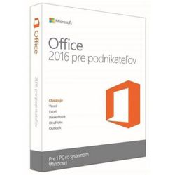 Software Microsoft Office Home and Business 2016 Win Slovak Medialess P2 T5D-02892