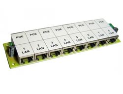 "OEM POE Patch panel/ UTP cat.5e 8p/ 1U/ Black (provedení 19"" rack)"